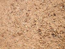 Sabbia di Brown e pavimento della ghiaia Fotografia Stock