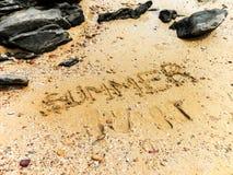 Sabbia di estate Fotografie Stock Libere da Diritti
