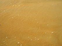 Sabbia di mare con acqua bassa Fotografie Stock Libere da Diritti