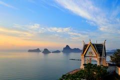 Baia di Prajuabkerekan in Tailandia Fotografia Stock Libera da Diritti