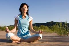 sabbia di meditazione fotografia stock