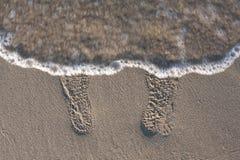 Sabbia di orme Immagine Stock