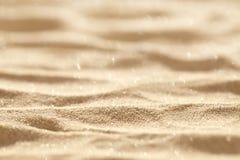 Sabbia di scintillio della spiaggia Fotografia Stock Libera da Diritti