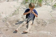 Sabbia di versamento Fotografia Stock Libera da Diritti