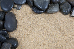 Sabbia e ciottoli Fotografia Stock