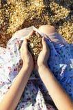 Sabbia e coperture Immagine Stock