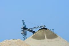 Sabbia e ghiaia della cava Immagini Stock Libere da Diritti