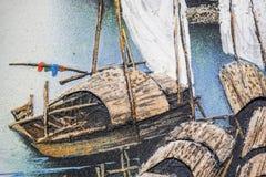 Sabbia e legno su pittura Immagine Stock