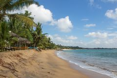 Sabbia e pescherecci sulla spiaggia Fotografia Stock