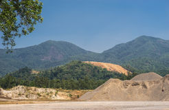 Sabbia e terra per costruzione Fotografia Stock