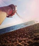 Sabbia ed acqua Immagini Stock