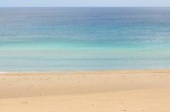 Sabbia ed oceano Fotografie Stock