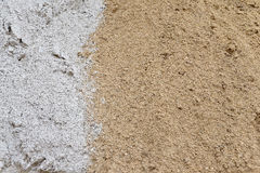 Sabbia gialla e bianca Immagini Stock