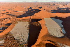 Sabbia Namibia marina di Namib Immagini Stock