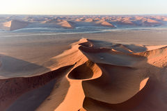 Sabbia Namibia marina di Namib Fotografie Stock Libere da Diritti