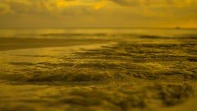 Sabbia nel tramonto dorato Fotografia Stock