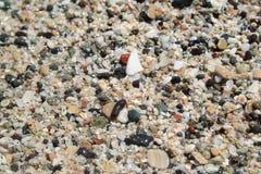 Sabbia nelle coperture vicine su struttura fotografie stock