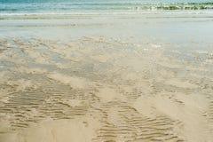 Sabbia ondulata sulla spiaggia Fotografie Stock