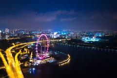 Sabbia Singapore della baia del porticciolo del parco del cielo della sabbia Immagini Stock