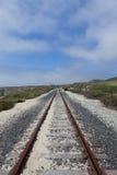 Sabbia sui binari ferroviari fotografia stock libera da diritti