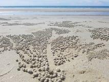 Sabbia sulla spiaggia, isola del Borneo Fotografie Stock