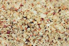 Sabbia, superficie grezza della sabbia nel colpo del primo piano Fotografia Stock Libera da Diritti