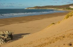 Sabbia vicino a Barnstaple, Devon, Inghilterra di Woolacombe Immagine Stock Libera da Diritti