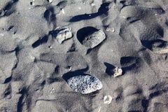 Sabbia vulcanica nera in Tenerife Fotografie Stock Libere da Diritti