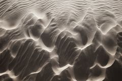 Sabbia windblown fotografia stock
