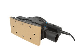 Sabbiatrice elettrica, 1/3rd main dello strato autoalimentati Immagine Stock