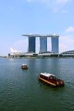 Sabbie della baia del porticciolo di Singapore Fotografie Stock
