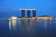 Sabbie della baia del porticciolo, Singapore Immagini Stock