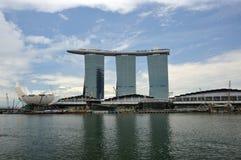 Sabbie della baia del porticciolo a Singapore. Immagini Stock