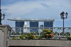 Sabbie della baia del porticciolo a Singapore. Fotografia Stock