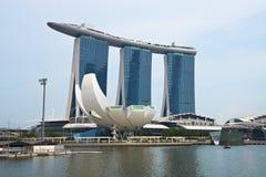Sabbie della baia del porticciolo, Singapore fotografie stock