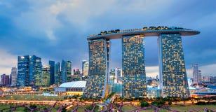 Sabbie della baia del porticciolo, Singapore, Fotografia Stock Libera da Diritti