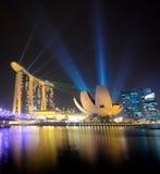 Sabbie della baia del porticciolo, Singapore Fotografia Stock
