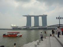 Sabbie della baia del porticciolo, Singapore Immagini Stock Libere da Diritti