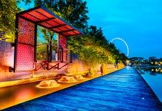Sabbie della baia del porticciolo, Singapore fotografie stock libere da diritti