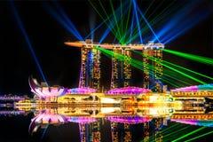 Sabbie della baia del porticciolo, Singapore fotografia stock libera da diritti