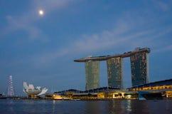 Sabbie della baia del porticciolo a Singapore Fotografie Stock