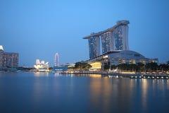 Sabbie della baia del porticciolo, Singapore Immagine Stock
