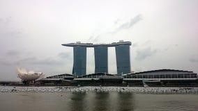 Sabbie della baia del porticciolo a Singapore Fotografia Stock