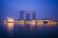 Sabbie della baia del porticciolo, SINGAPORE 12 ottobre 2015: vista della baia del porticciolo Fotografie Stock Libere da Diritti