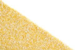 Sabbie di cereale su fondo bianco Fotografie Stock