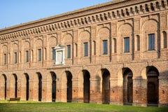 Sabbioneta - Średniowieczny budynek diuka pałac na głównym placu w Sabbioneta mieście italy mantua zdjęcie royalty free