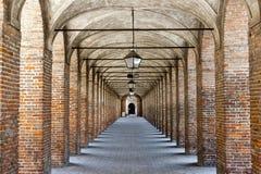 Sabbioneta. the Gallery Stock Photo