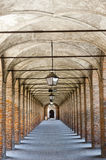Sabbioneta. the Gallery. Sabbioneta (Mantua, Italy), the colonnade known as La Galleria Royalty Free Stock Image