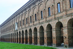 Sabbioneta (Mantua). Sabbioneta (Mantua, Lombardy, Italy) - The Gallery, historic building of the Renaissance era Stock Photography