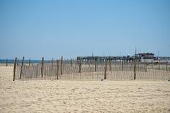 Sandy beach of Ocean City Maryland Stock Photos